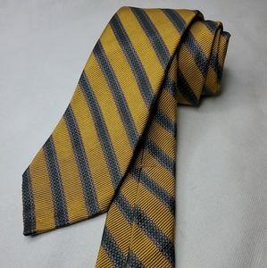 Robert Talbott Seven Fold Mens Neck Tie Gold New